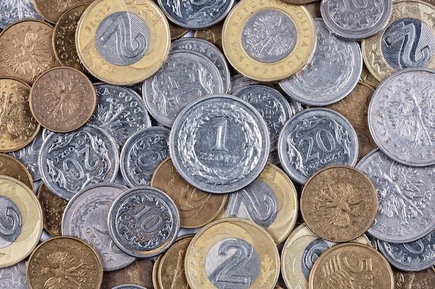 Poolse munten, een zakelijke achtergrond