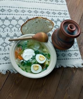 Poolse zuring soep. slavische keuken