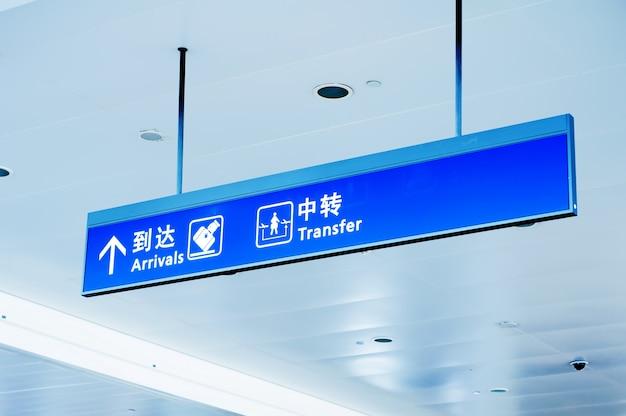 Poortbord op de luchthaven