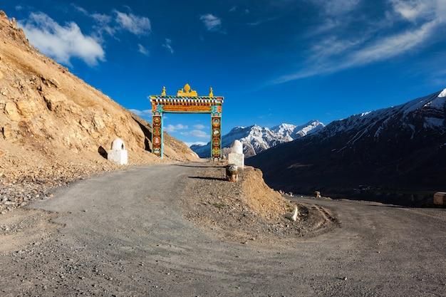 Poorten van ki gompa spiti valley himachal pradesh