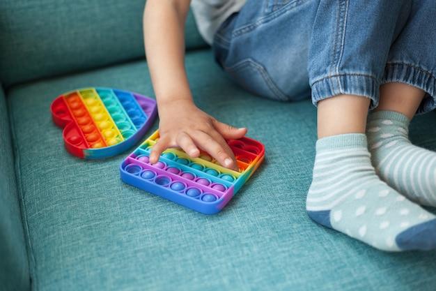 Pop it speelgoed fidget, kind spelen met antistress speelgoed