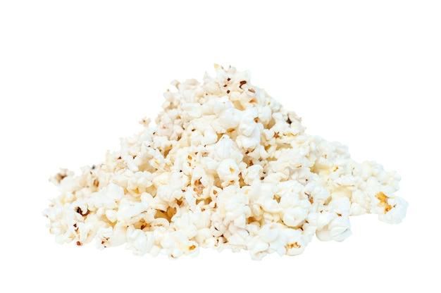 Popcorn dia van popcorn op een witte achtergrond