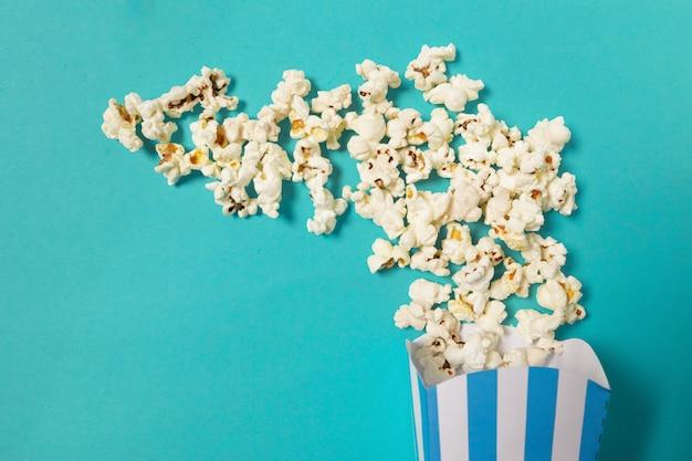 Popcorn op groen
