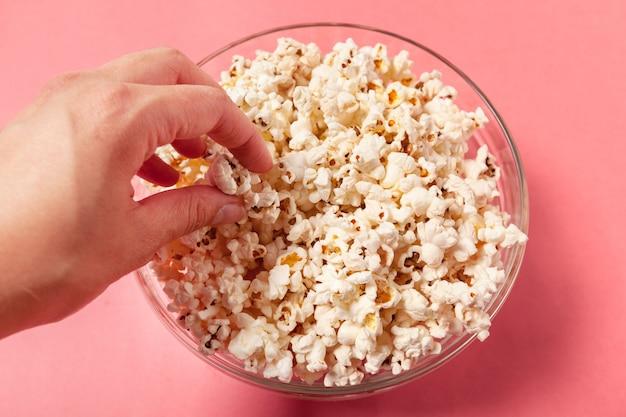 Popcorn op oranje