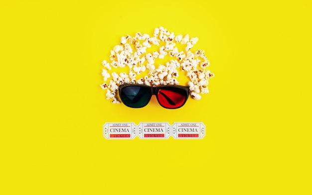Popcorns, tickets en 3d-bril