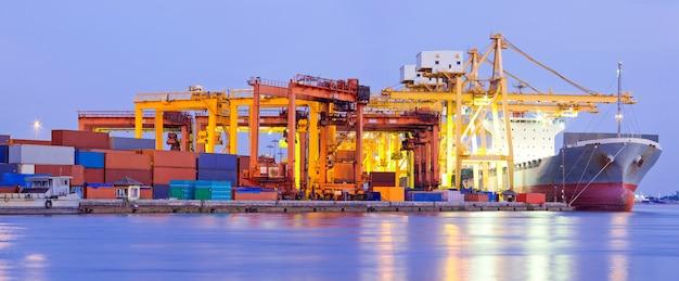 Port terminal panorama-industrie