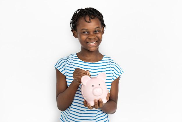 Portarit van een jong afrikaans amerikaans meisje