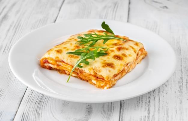 Portie kaaslasagne - italiaanse pastaschotel