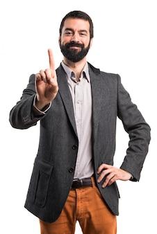 Portret een baard man nummer