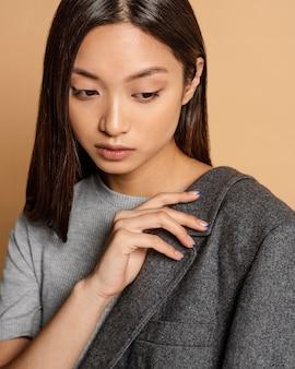 Portret jonge japanse vrouw