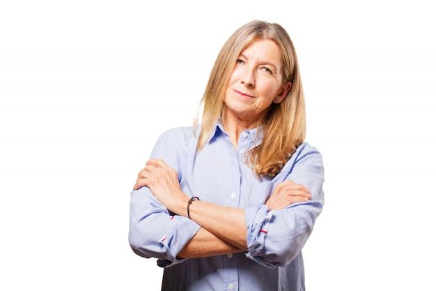 Portret pret volwassen vrouw trots
