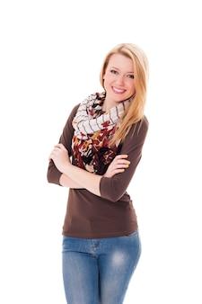 Portret van aantrekkelijke jonge vrouw