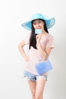 Portret van aziatisch jong mooi meisje