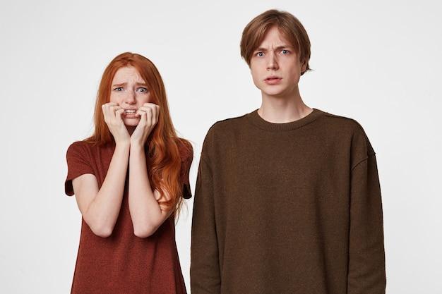 Portret van bang paar