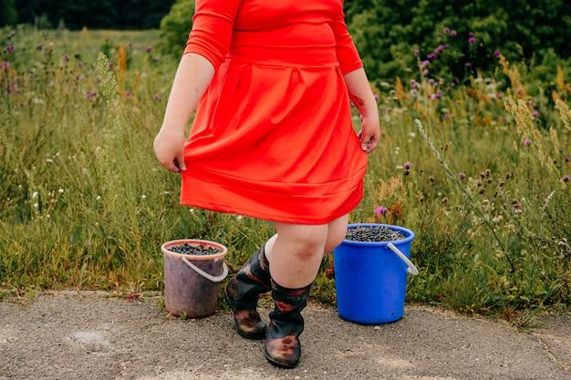 Portret van benen op het platteland