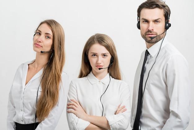 Portret van callcentermedewerkers