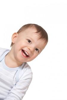 Portret van de glimlachende baby