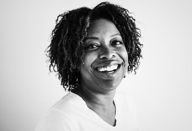 Portret van een afro-amerikaanse vrouw
