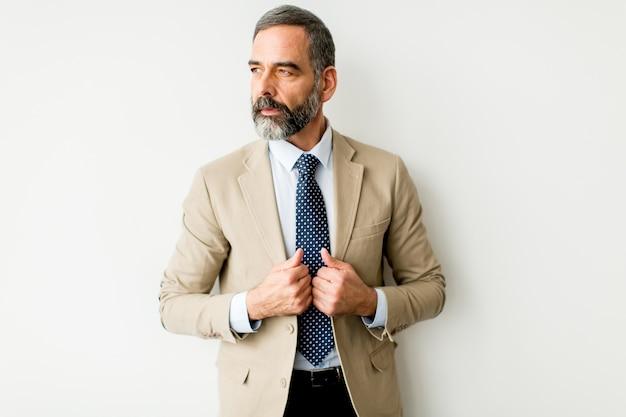 Portret van een bebaarde zakenman van middelbare leeftijd
