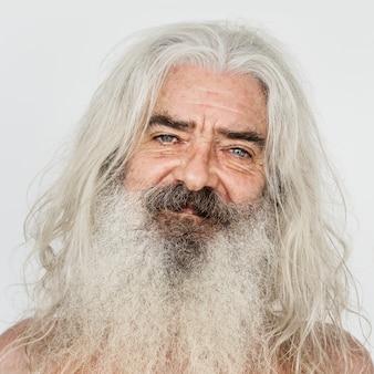 Portret van een britse bejaarde