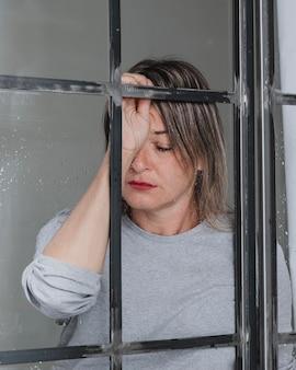 Portret van een depressieve vrouw