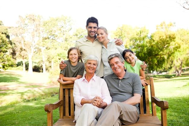 Portret van een gelukkig gezin