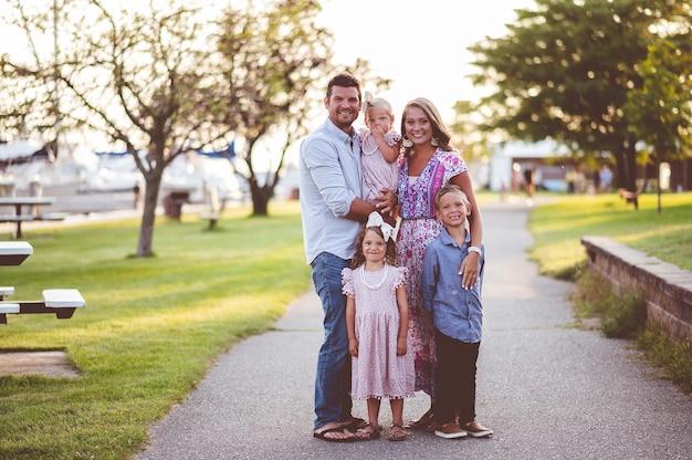 Portret van een gezin