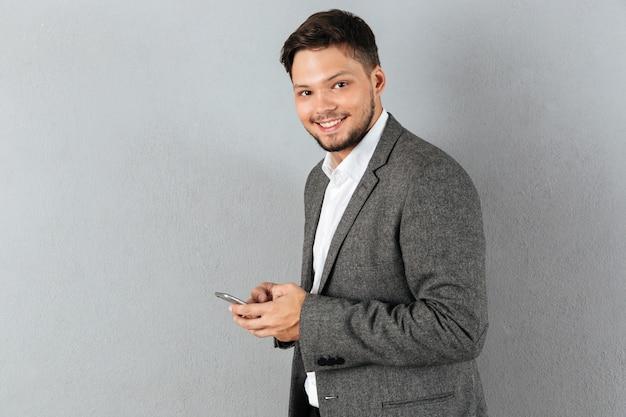 Portret van een glimlachende zakenman