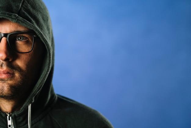 Portret van een hacker