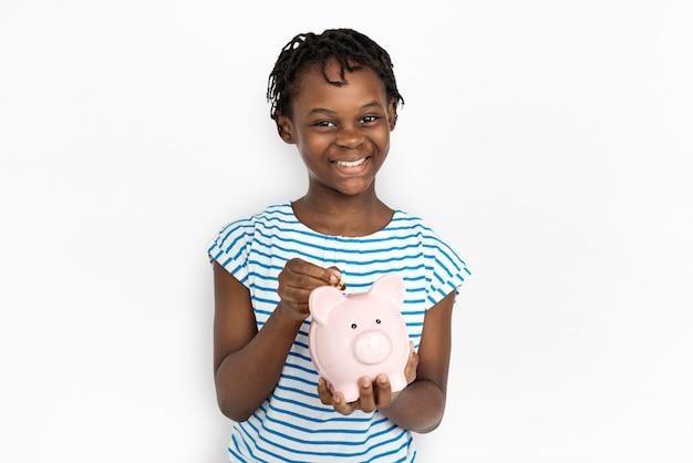 Portret van een jong afro-amerikaans meisje