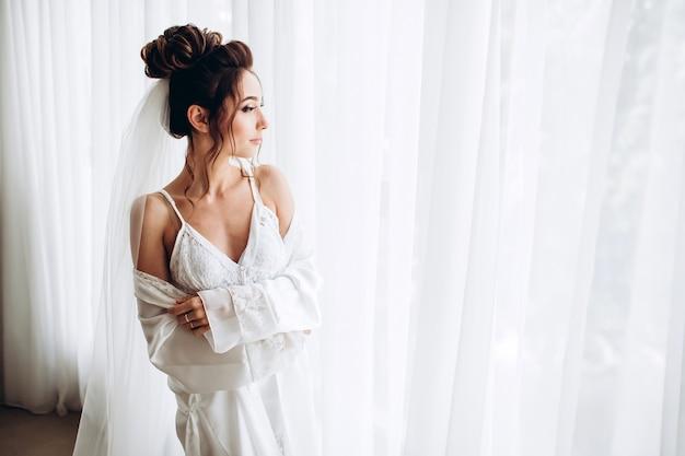 Portret van een jonge mooie bruid