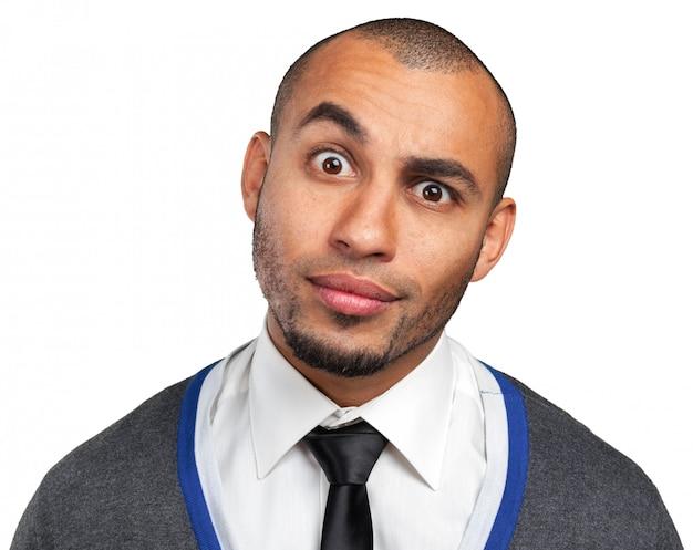 Portret van een jonge zwarte knappe man
