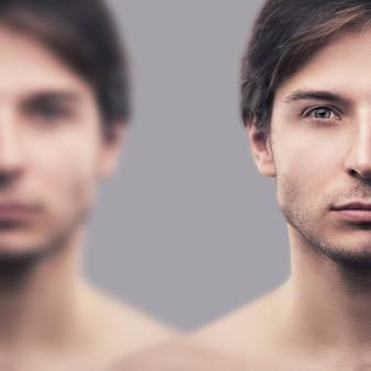 Portret van een knappe man