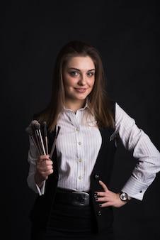 Portret van een make-upartiest van het meisje