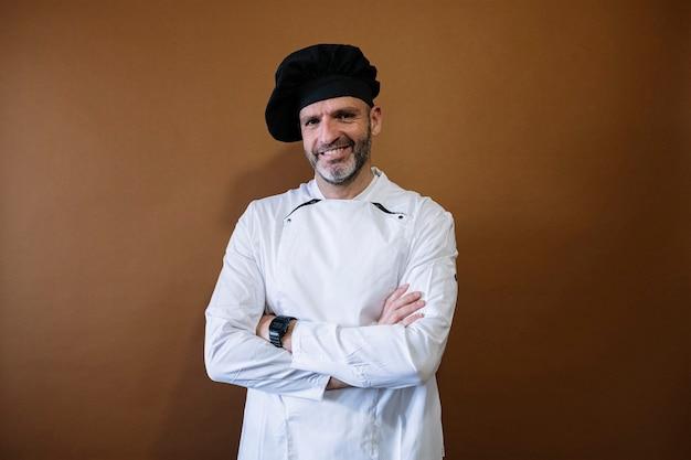 Portret van een mannelijke chef-kok