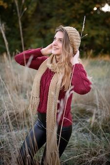 Portret van een mooie herfst vrouw