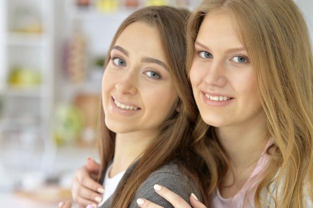 Portret van een mooie twee vrouwelijke vrienden