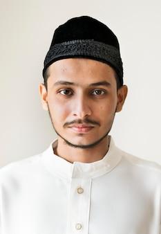 Portret van een moslimman
