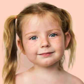 Portret van een noors meisje