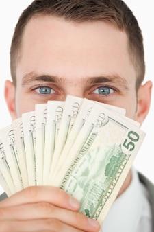 Portret van een rijke zakenman