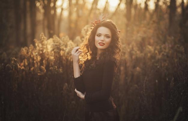 Portret van een schattige brunette