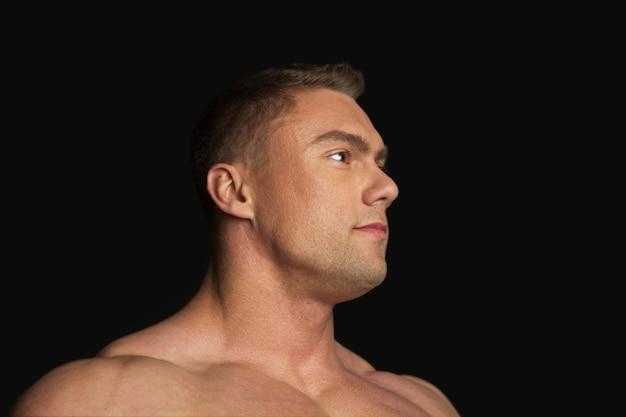 Portret van een sterke man