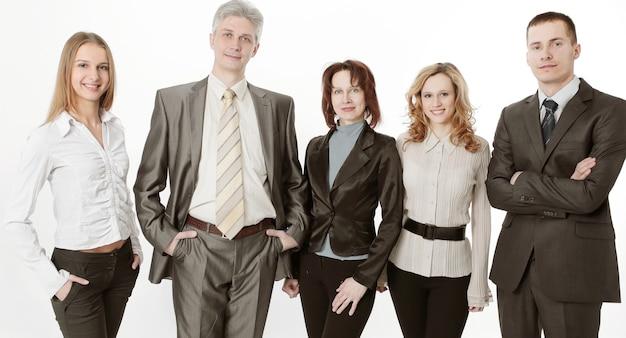 Portret van een succesvol professioneel commercieel team.