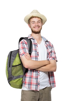 Portret van een toeristische man