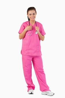Portret van een verpleegster