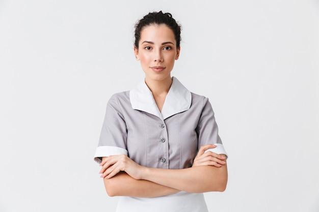 Portret van een vrij jonge huishoudster