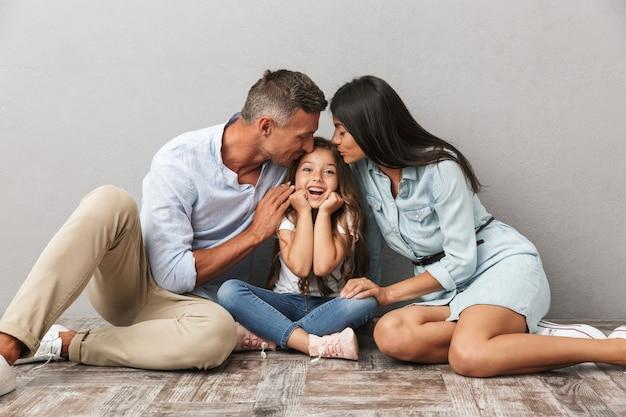Portret van een vrolijk gezin