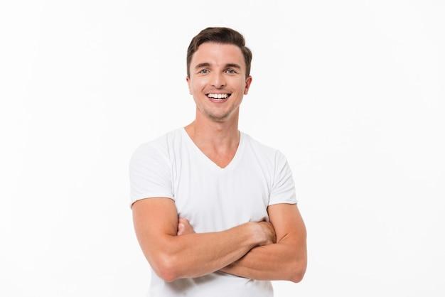 Portret van een vrolijke jonge man close-up