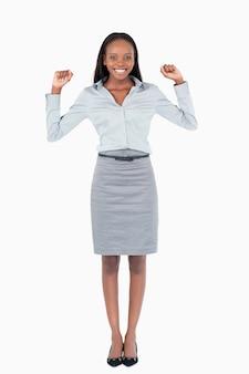 Portret van een vrolijke zakenvrouw