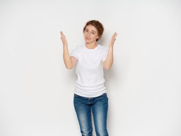 Portret van een vrouw op volwassen leeftijd